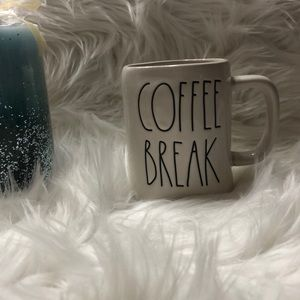 "Rae Dunn ""COFFEE BREAK"" coffee mug NEW"